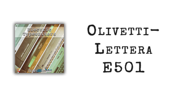 Electric Typewriters: Olivetti-Lettera E501