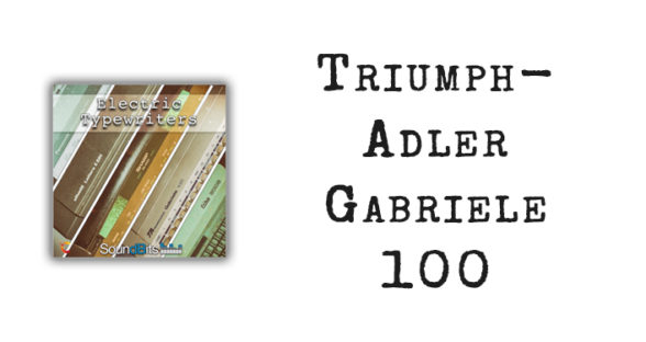 Electric Typewriters: Triumph-Adler Gabriele 100