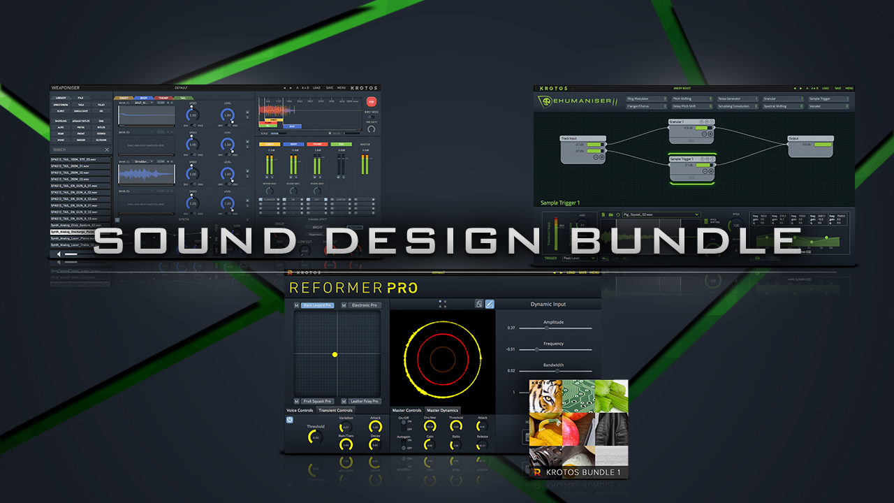 sound design bundle, best software for sound design, three sound design software in one, discount sound design software