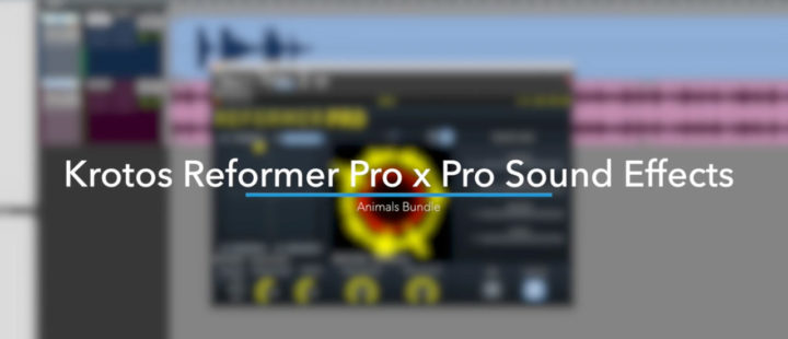 Using the Pro Sound Effects Animals Bundle in Reformer Pro